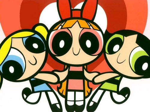 3 filles dessin animé